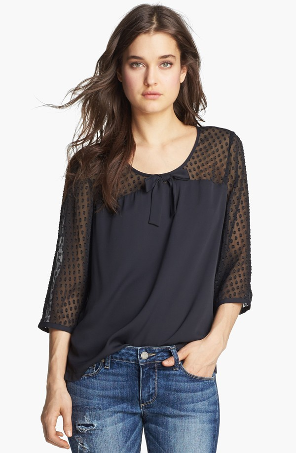 Hinge Jacquard Dot Top (Sale: $49.90, After Sale: $78.00)