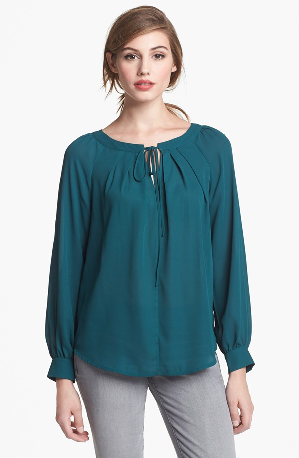 Pleione Tie Front Blouse (Sale: $44.90, After Sale: $68.00)