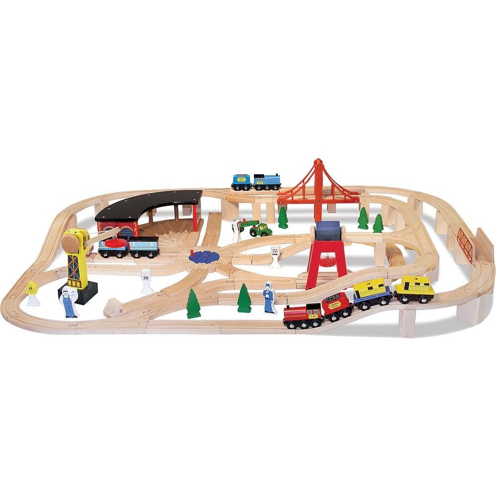 Melissa & Doug Deluxe Wooden Railway Set ($89.82)