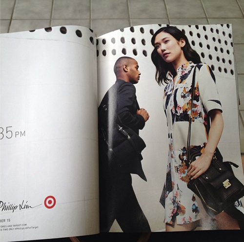 3.1 Phillip Lim for Target ad - Mini Pashli-like satchel