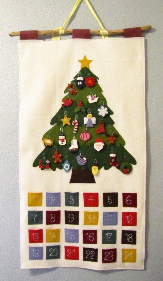 Handmade Advent Calendar designed by SesameSeedDesigns