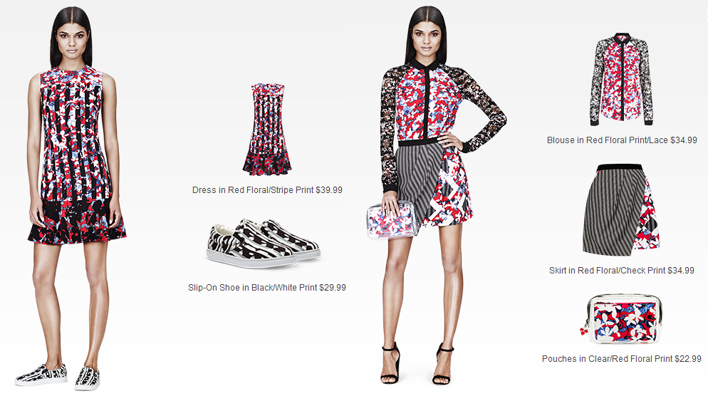 PETER PILOTTO for Target Lookbook - Look 1-2