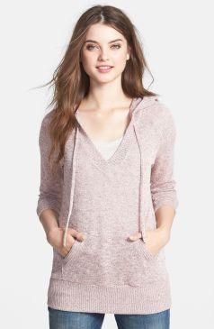 Bobeau Sweater Knit Hoodie