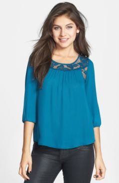 Chloe K Lace Inset Top