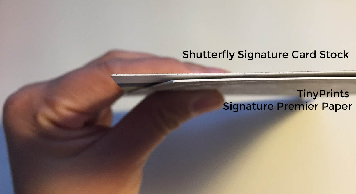 Shutterfly vs. TinyPrints Paper Comparison