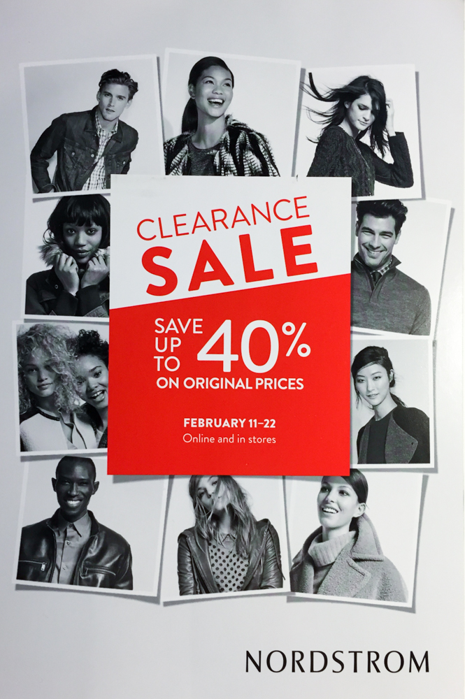 Nordstrom 40% off Clearance Sale