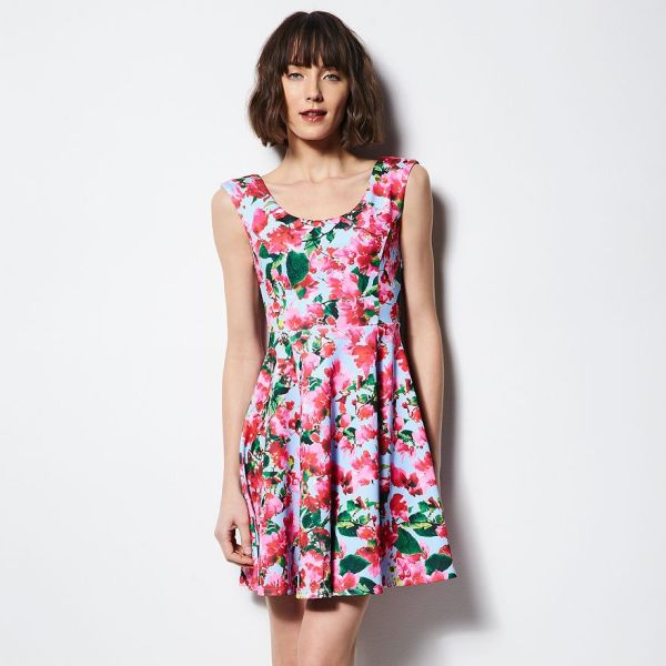 Milly for Kohl's DesigNation - Floral Fit and Flare Scuba Dress