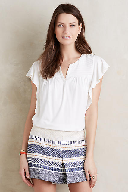 Ridged Yoke Tee by Meadow Rue at Anthropologie