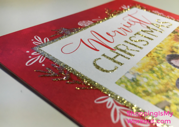 Shutterfly Glitter Holiday Photo Card Detail