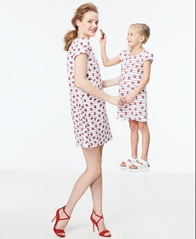 Mommy and Me Matching Strawberry Dress